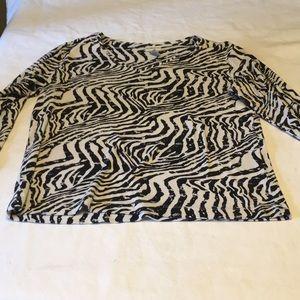 Chicos ladies large cotton zebra print Lyon
